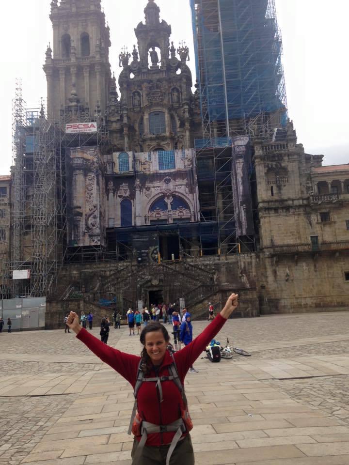 Chegada a Santiago de Compostela.