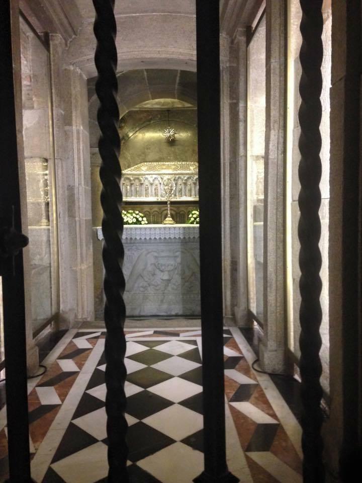 Túmulo do Apóstolo Tiago, dentro da Catedral.
