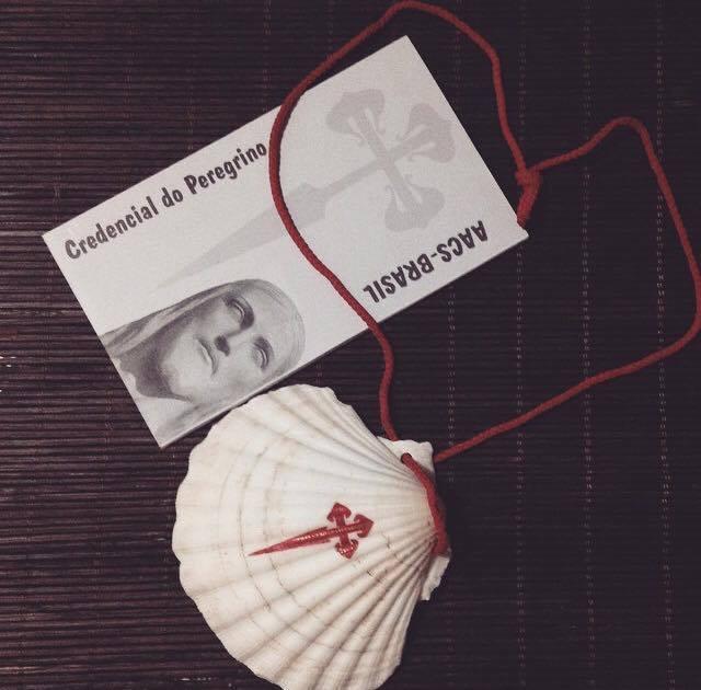 Passaporte e a concha do Peregrino.