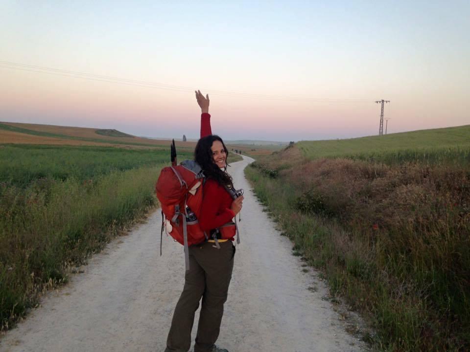Iniciando um dia de caminhada antes mesmo do sol nascer.