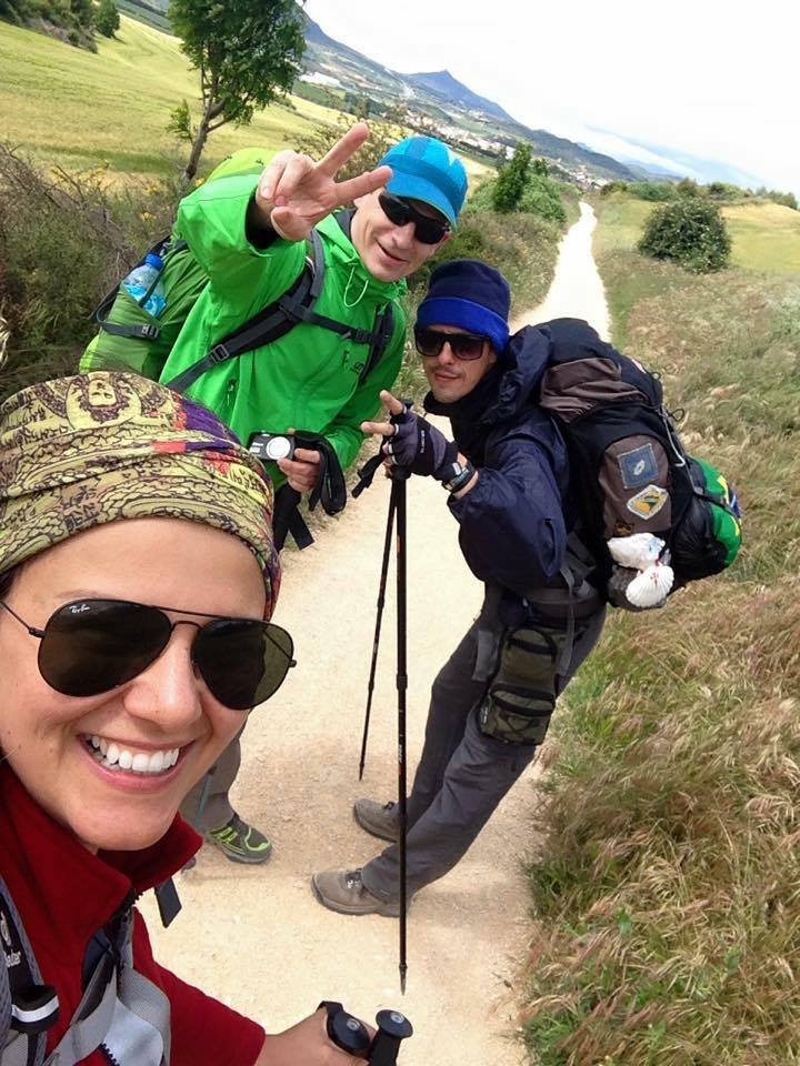 Amigos que marcaram a caminhada, o húngaro Zoltan e o brasileiro Gabriel.