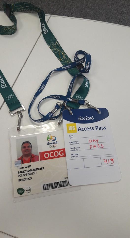 Credenciais para acesso a Vila Olímpica, Lucas Wild.