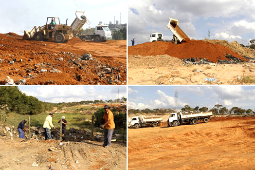 Foto do Aterro Sanitário de Bom Despacho - fonte: PMBD